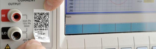 Kalibriersiegel mit QR Code